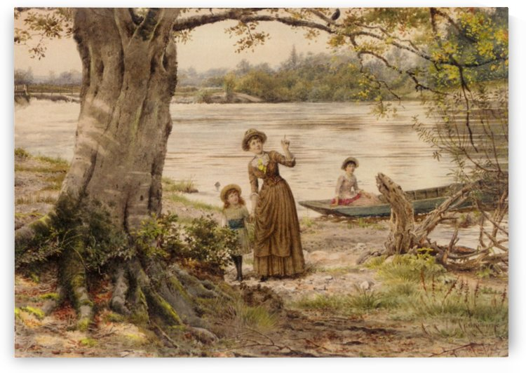 Landscape with a river by George Goodwin Kilburne