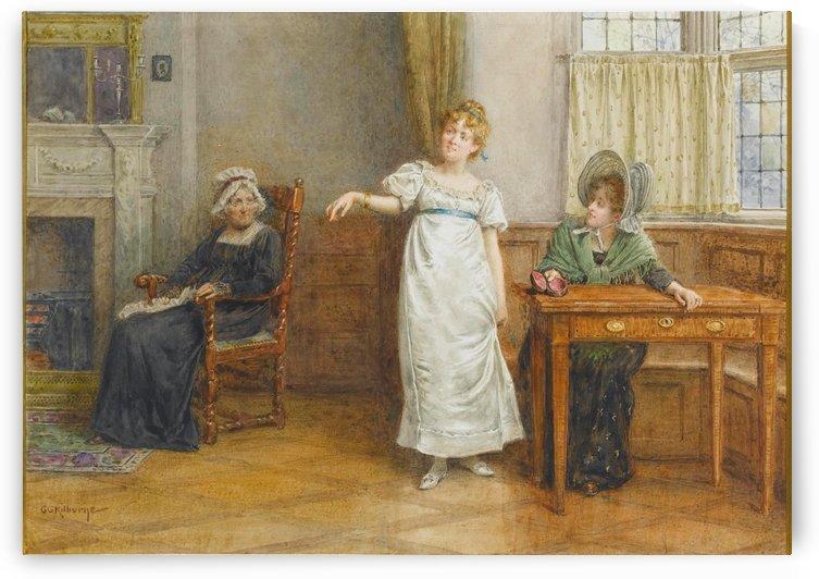 A girl gathering by George Goodwin Kilburne
