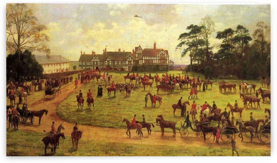 The Cheshire Hunt The Meet at Calverley Hall by George Goodwin Kilburne