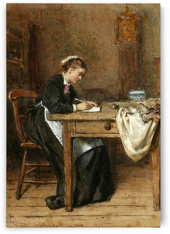 Writing the letter by George Goodwin Kilburne