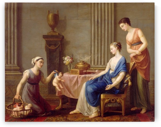 Young women and Mars by Joseph-Marie Vien