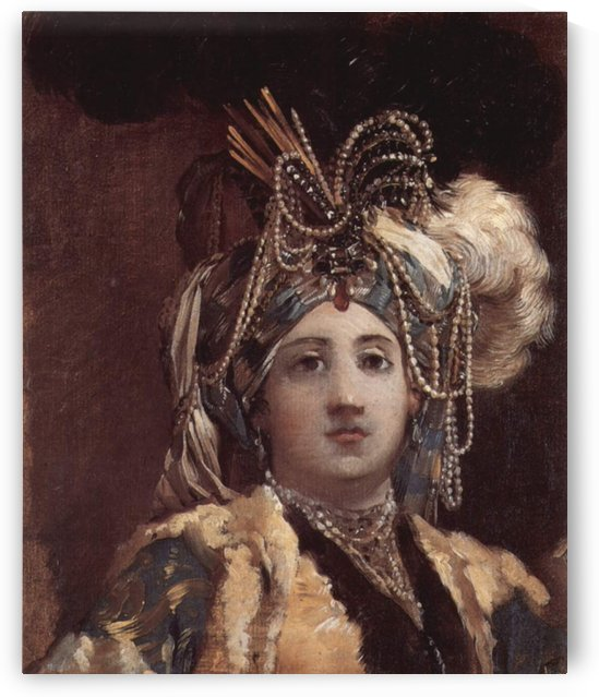 An Oriental Lady by Joseph-Marie Vien