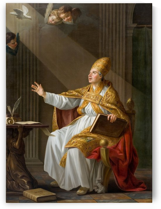 Pope St Gregory the Great by Joseph-Marie Vien