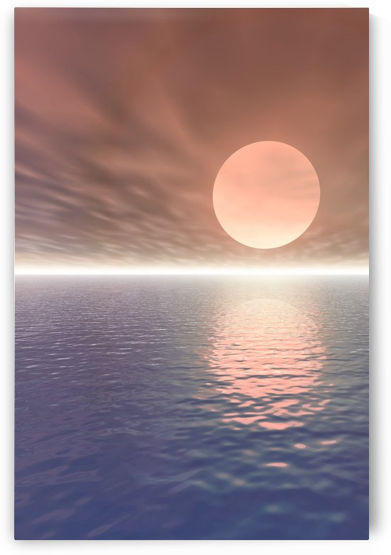 Illustrated Sun Over A Seascape by PacificStock