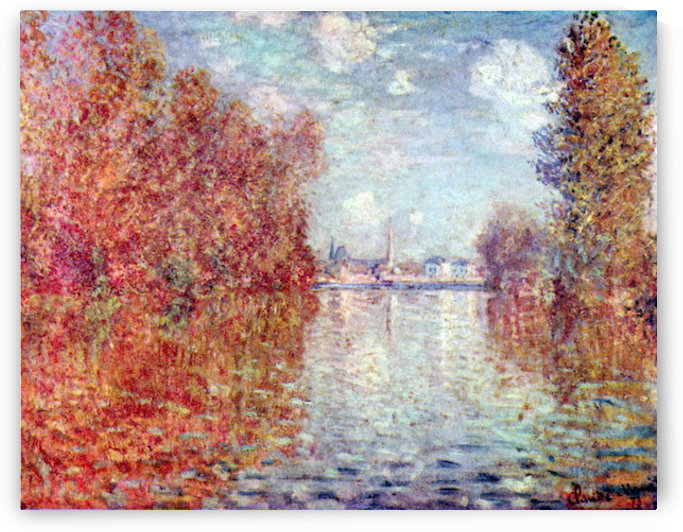 Autumn in Argenteuil by Monet by Monet