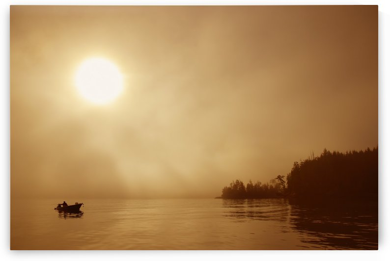 Fisherman At Dusk, Bamfield, Vancouver Island, British Columbia, Canada by PacificStock