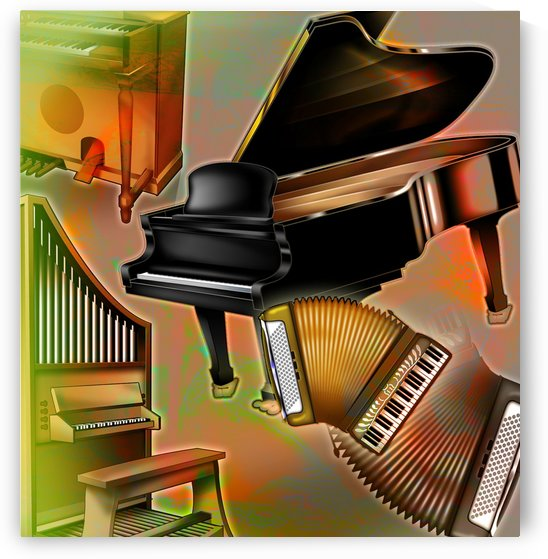 Musical Instruments With Keyboards by PacificStock