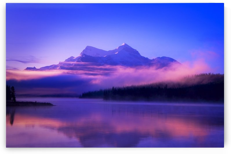 Foggy Mountain Sunrise by PacificStock