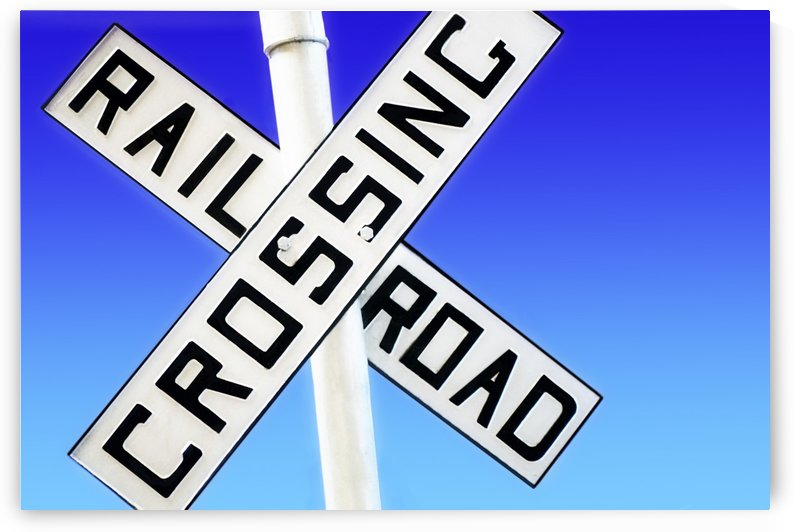 Railroad Crossing Sign by PacificStock