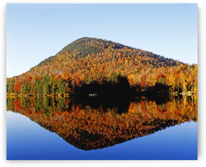 Autumn Colours Reflected In Water, Eastern Townships, Quebec, Canada by PacificStock