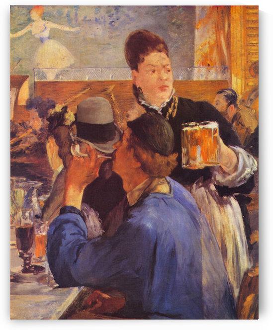 Beer Waitress by Manet by Manet