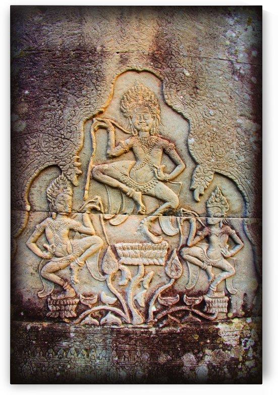 Bas-Reliefs Of Hindu Myths At Bayon Temple Of Angkor Thom, Angkor, Cambodia by PacificStock