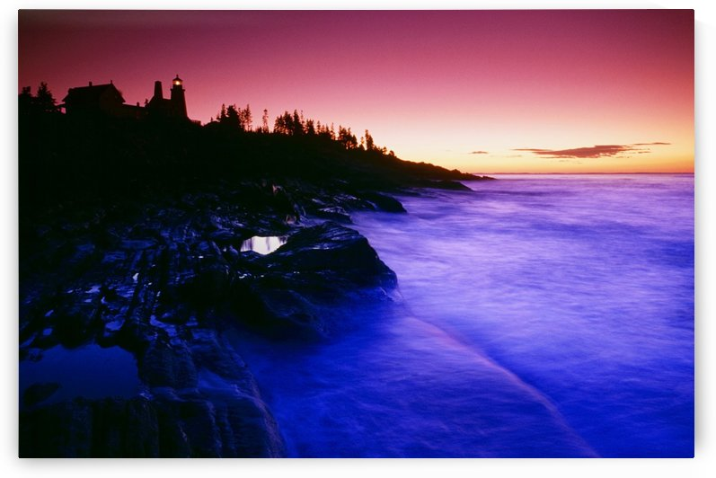 Pemaquid Point Lighthouse, Bristol, Maine, Usa by PacificStock
