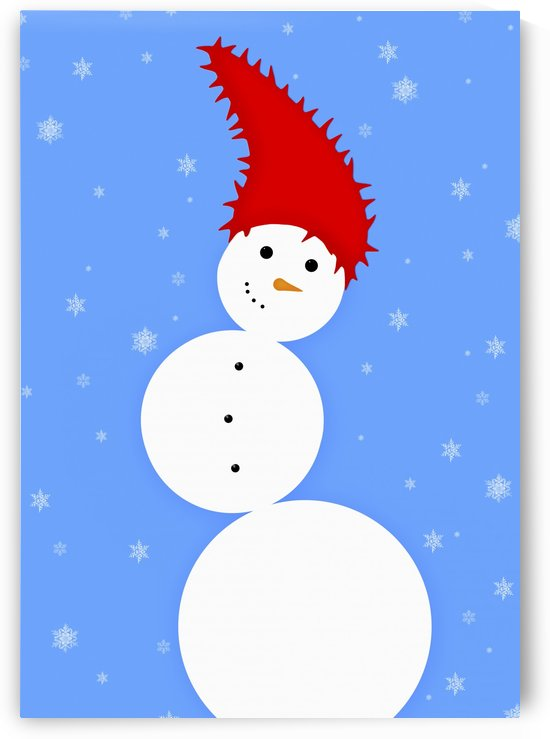 Illustration Of A Snowman by PacificStock