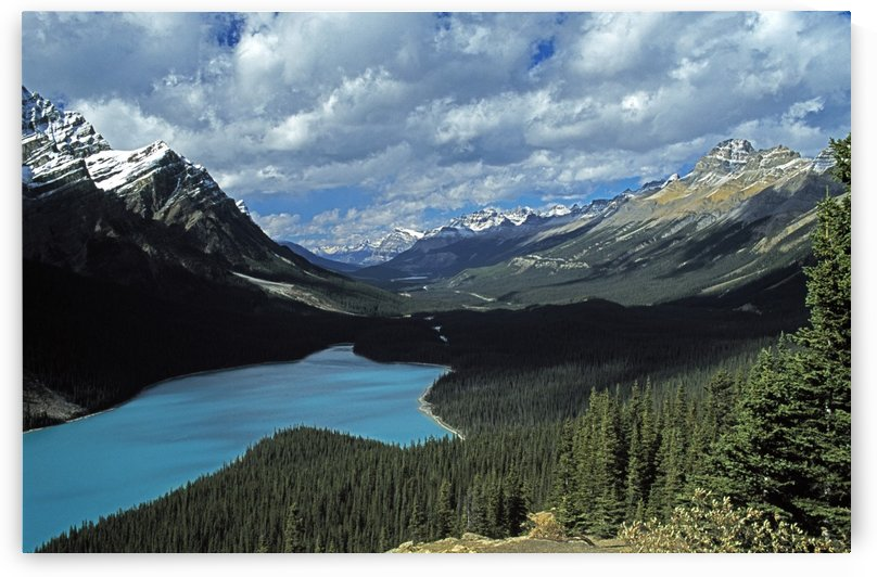 Lake And Mountains In The Canadian Rockies by PacificStock