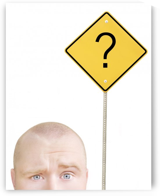 Part Of A Man's Head And A Sign by PacificStock
