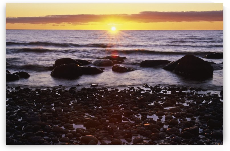 Sunset Over Water, Newfoundland, Canada by PacificStock