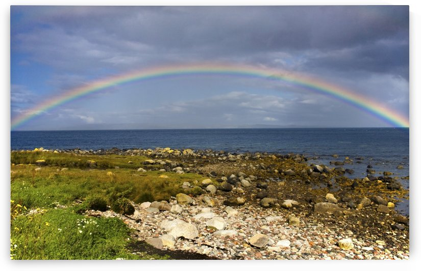 Rainbow On The Island Of Arran, Scotland by PacificStock