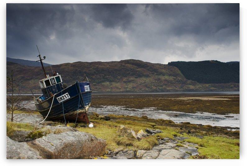 Boat Ashore, Loch Sunart, Scotland by PacificStock