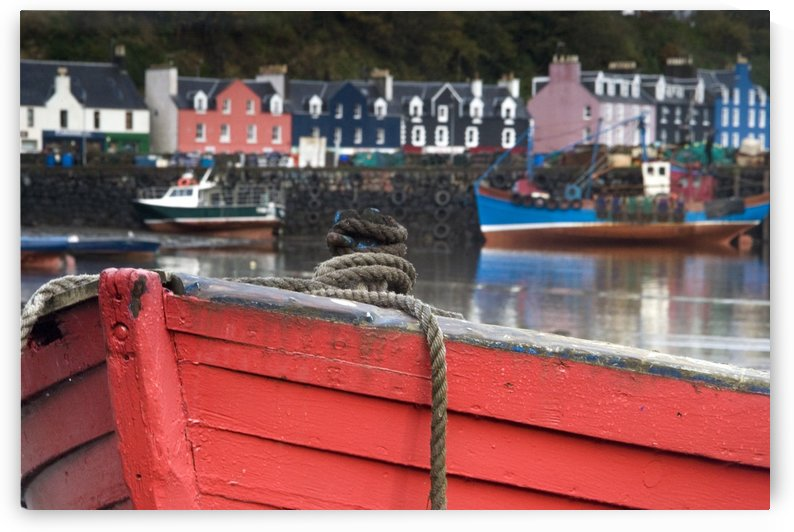 Closeup Of The Bow Of A Boat, Tobermory, Isle Of Mull, Scotland by PacificStock
