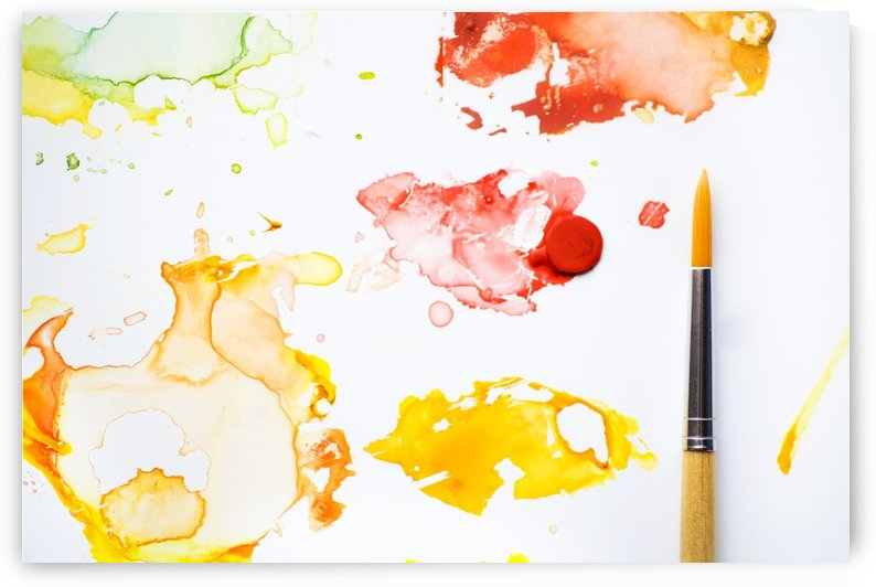 Paint Splatters And Paint Brush by PacificStock