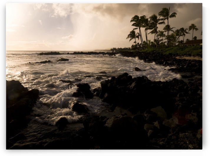 Rocky Coastline, Poipu, Kauai, Hawaii by PacificStock