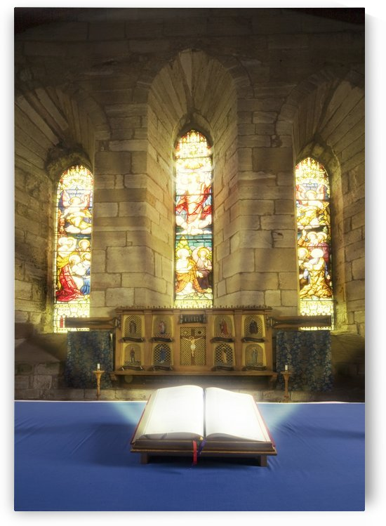 Illuminated Bible In Church by PacificStock