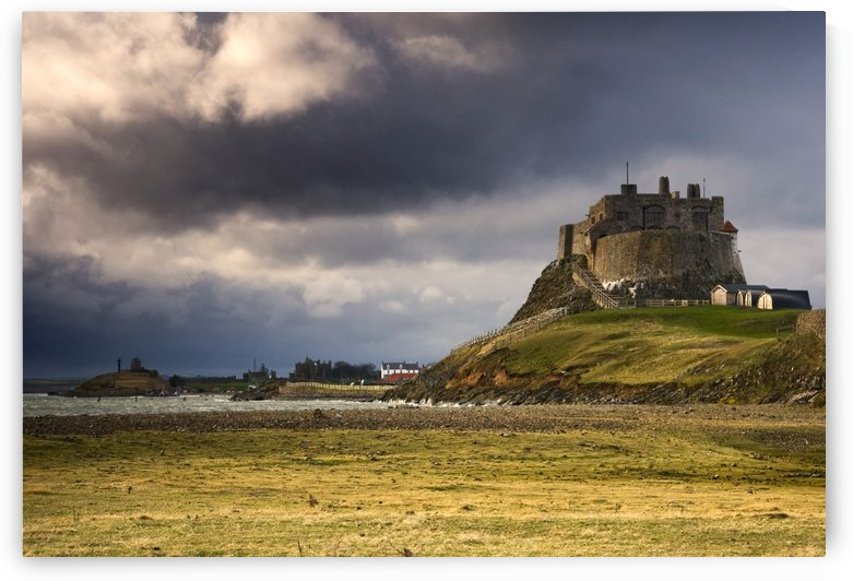 Lindisfarne Castle, Beblowe Crag, Berwick-Upon-Tweed, Northumberland, England, Eu by PacificStock