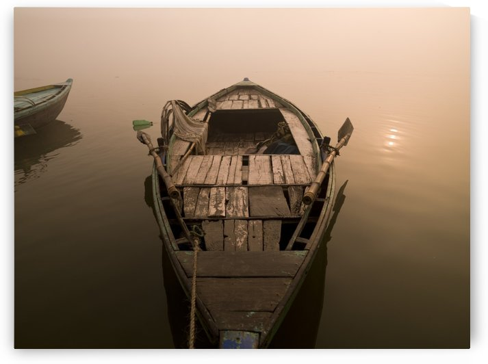 Boat In The Water, Varanasi, India by PacificStock