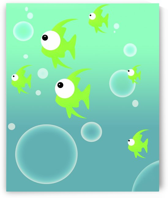 Illustration Of Fish And Bubbles by PacificStock