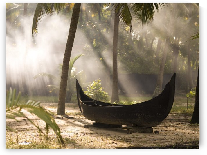 Sunlight Shining On A Canoe by PacificStock