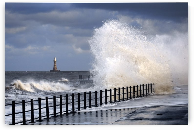 Waves Crashing, Sunderland, Tyne And Wear, England by PacificStock