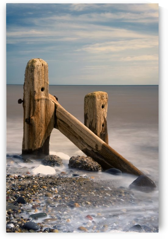 Old Post In Sea, Humberside, England by PacificStock
