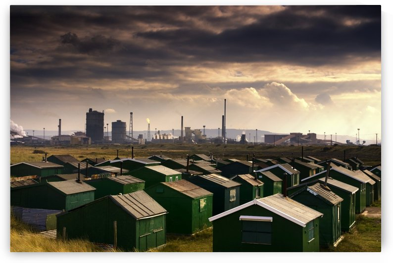 Small Buildings And Cityscape, Teesside, England by PacificStock