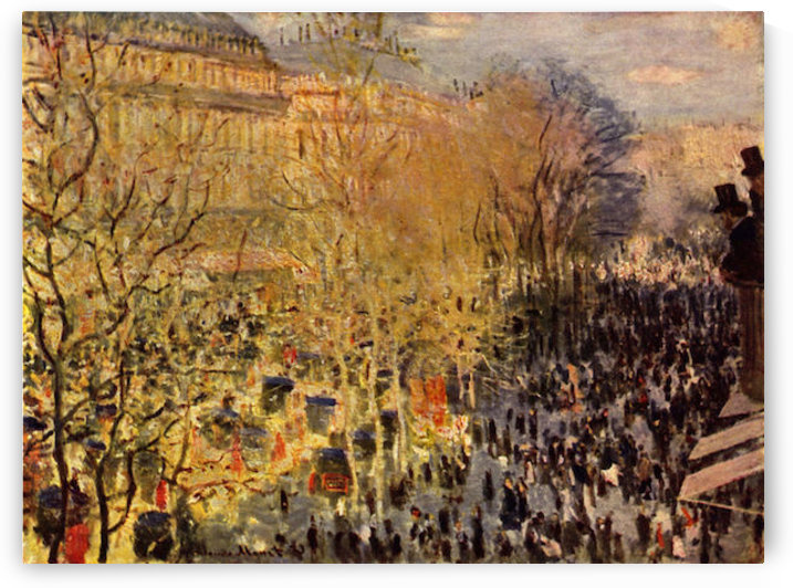 Boulevard of Capucines in Paris by Monet by Monet