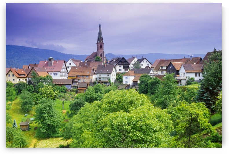 Village Of Rottelsheim, Alsace, France by PacificStock