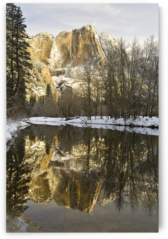 Mountains Reflecting In Merced River In Winter, Yosemite National Park, California, United States Of America by PacificStock
