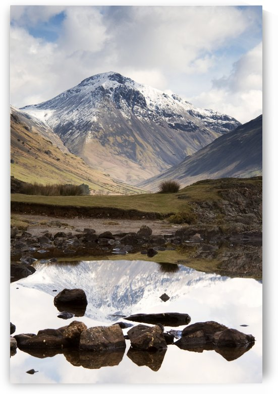 Mountains And Lake At Lake District, Cumbria, England by PacificStock
