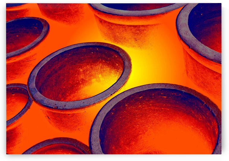 Illuminated Round Bowls, Close Up by PacificStock