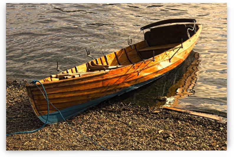 Boat On Shore, Keswick, Cumbria, England by PacificStock