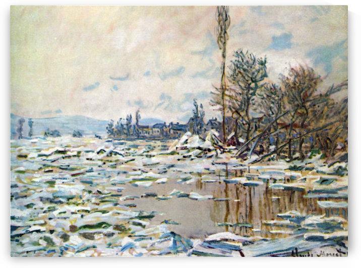 Break Up of Ice by Monet by Monet