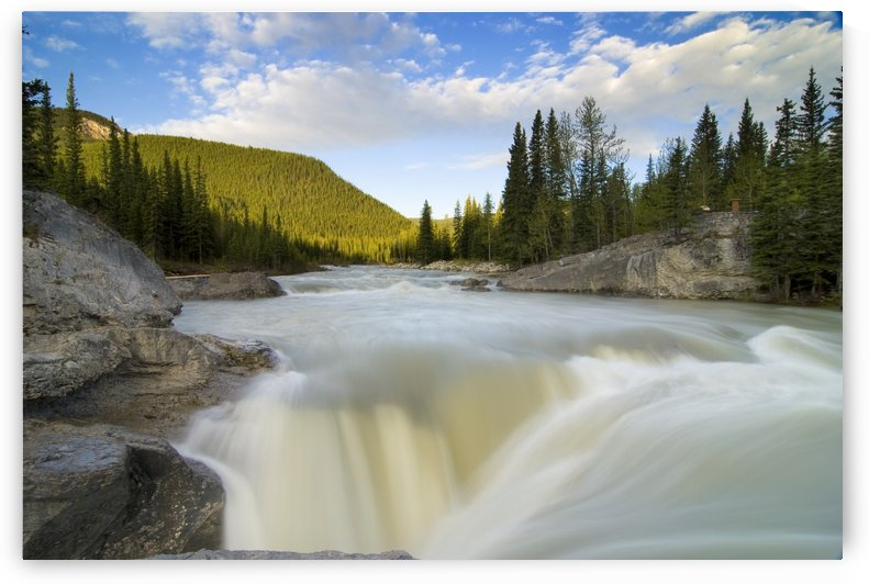 Waterfall, Elbow River, Kananaskis Country, Alberta by PacificStock