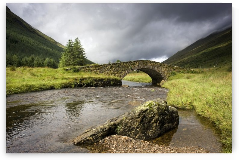 Bridge Over River, Scotland by PacificStock