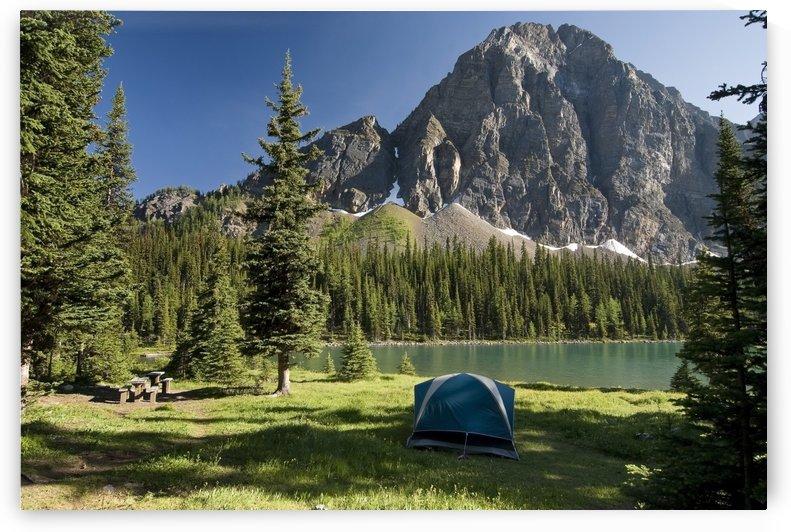 Camping, Taylor Lake, Banff National Park, Banff, Alberta by PacificStock