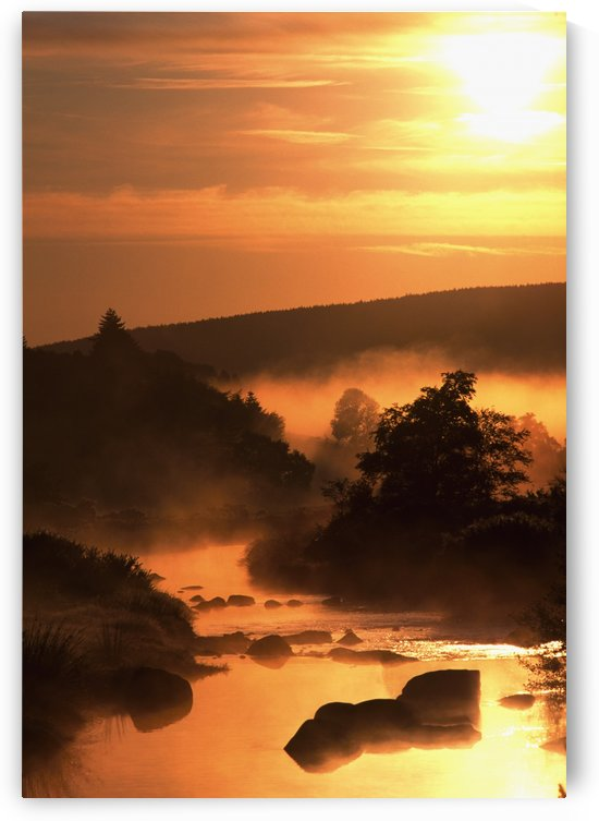 Sunset, Glendalough; Glendalough, Co Wicklow, Ireland by PacificStock