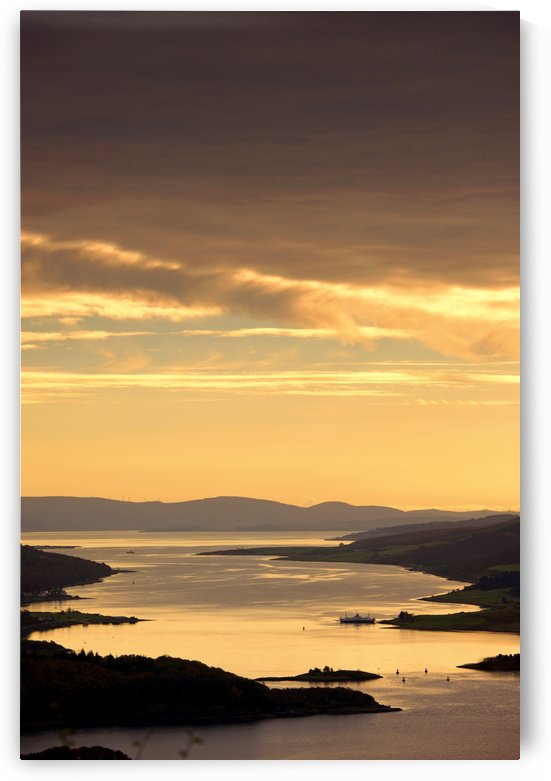 Sunset Over Water, Argyll And Bute, Scotland by PacificStock