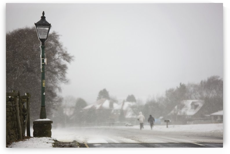 Goathland, North Yorkshire, England; Snowing by PacificStock