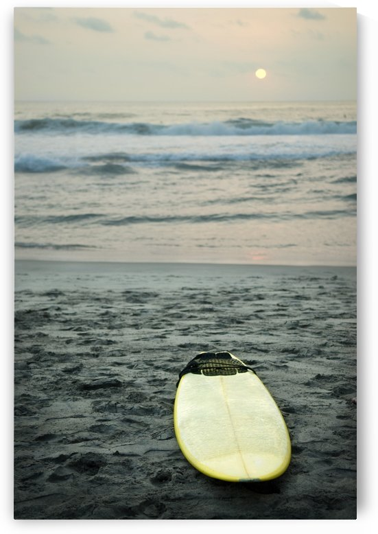 Mexico; Surfboard Lying On Sand by PacificStock