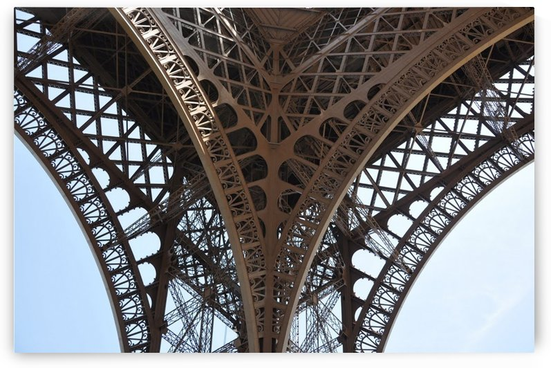 eiffel structure by STOCK PHOTOGRAPHY