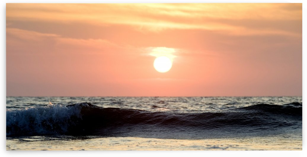Ocean Wave At Sunset, Puerto Vallarta, Mexico by PacificStock